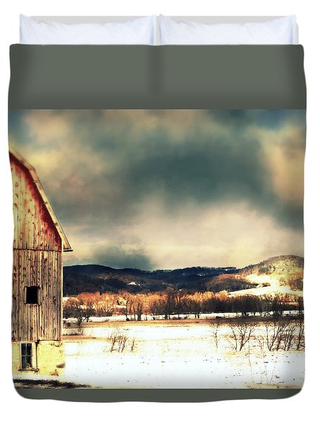 Duvet Cover featuring the photograph Over Yonder by Julie Hamilton
