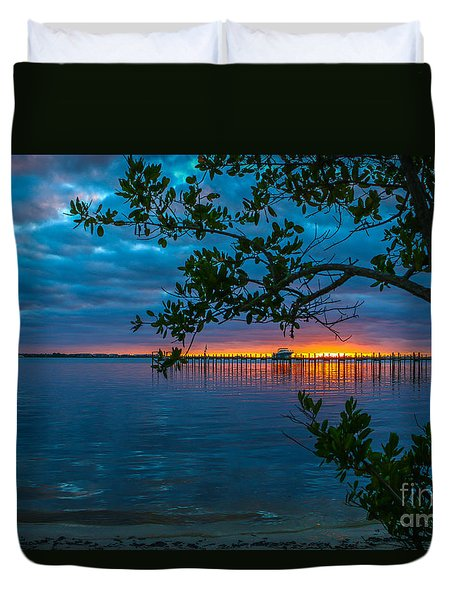 Overcast Sunrise Duvet Cover