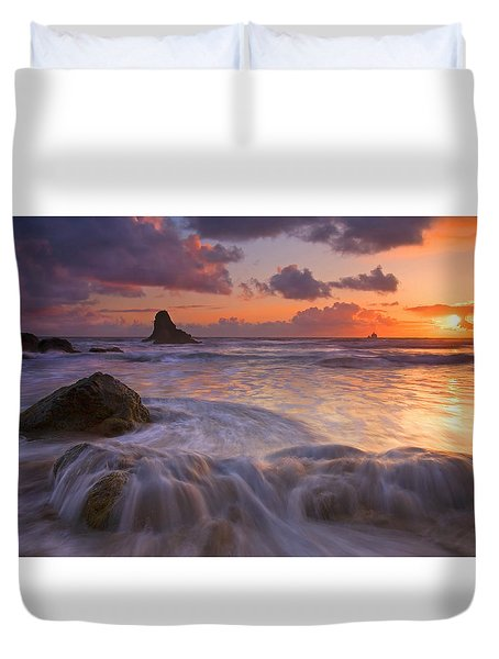 Overcome Duvet Cover by Mike  Dawson