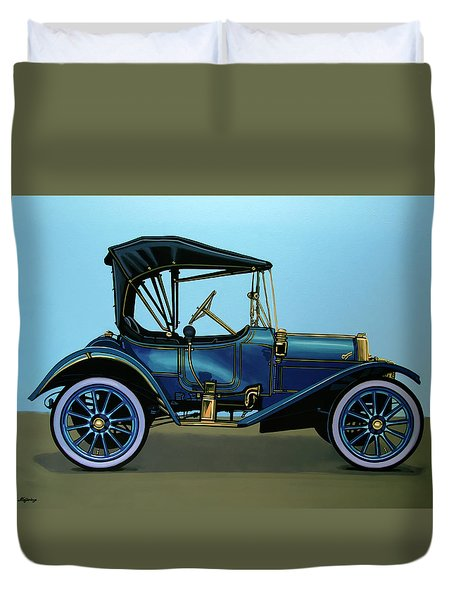 Overland 1911 Painting Duvet Cover by Paul Meijering