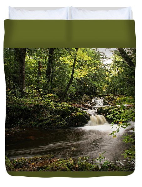 Overlooked Falls Duvet Cover