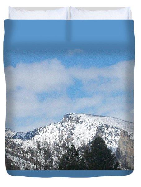 Duvet Cover featuring the photograph Overlooking Blodgett by Jewel Hengen