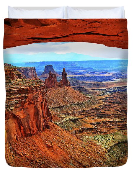 Duvet Cover featuring the photograph Overlooking Canyonlands National Park    Moab Utah by Gary Baird