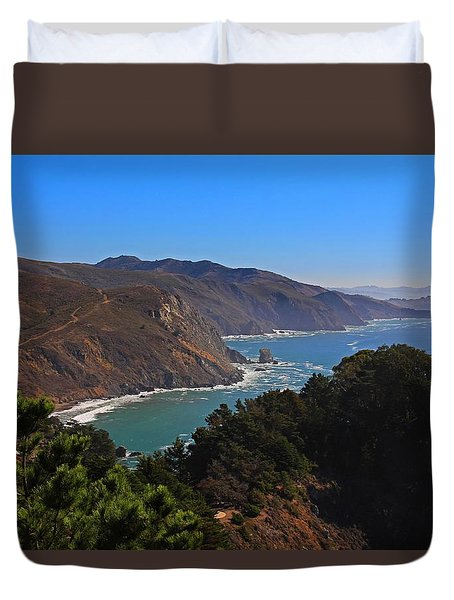 Overlooking Marin Headlands Duvet Cover