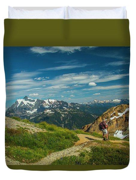 Overlooking Shuksan Duvet Cover