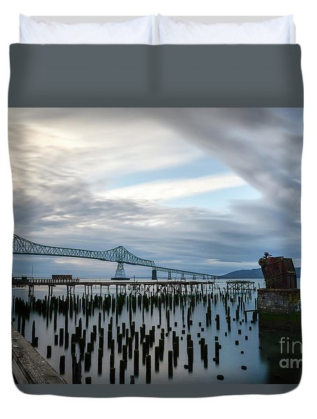 Overlooking The Bridge Duvet Cover