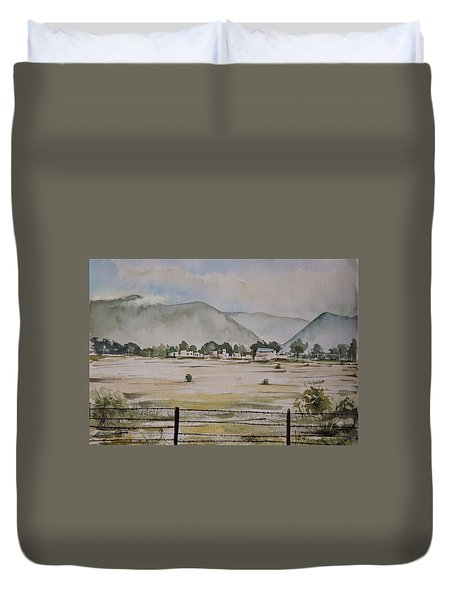 Overlooking The Hills Duvet Cover