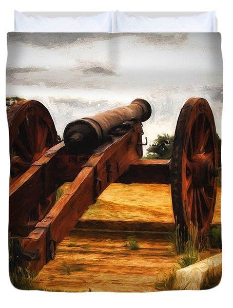 Overlooking Yorktown  ... Duvet Cover