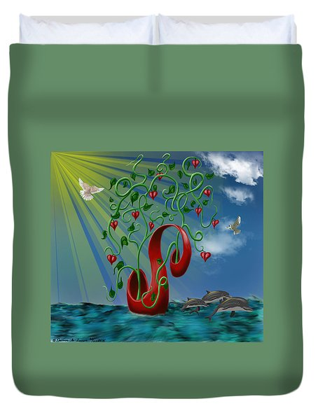 Overseas Hope Duvet Cover