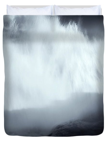 Overshadowed By Nature Duvet Cover by Mike  Dawson