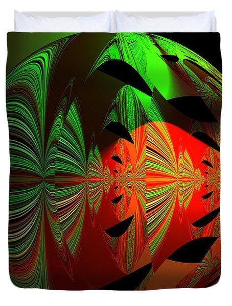 Art Green, Red, Black Duvet Cover