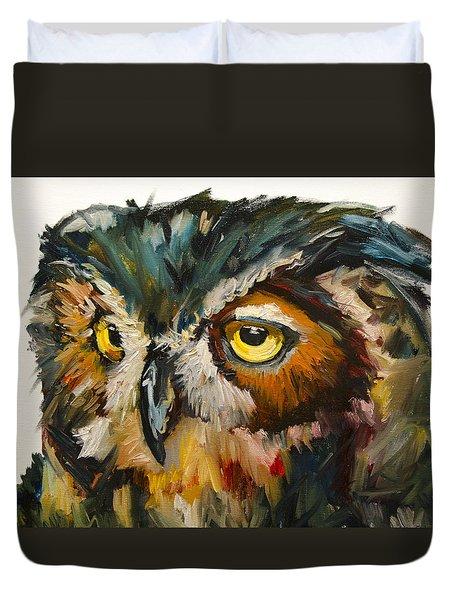 Owl Eye Duvet Cover