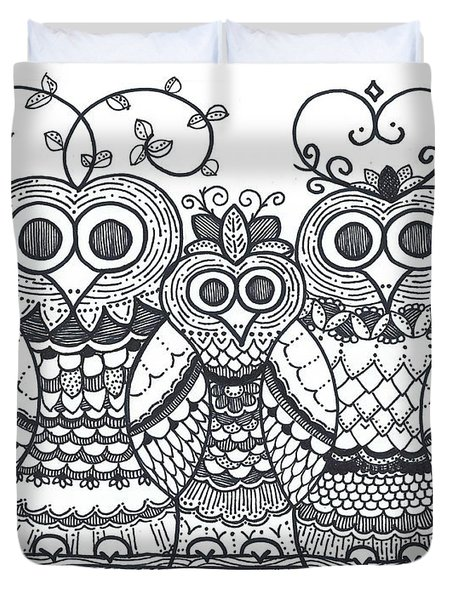 Owl Family Duvet Cover