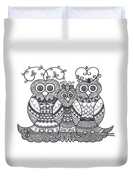 Owl Family Duvet Cover