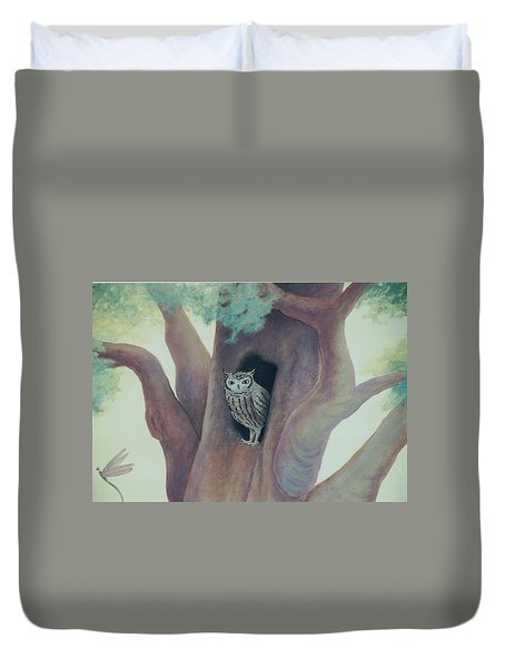Owl In Tree Duvet Cover