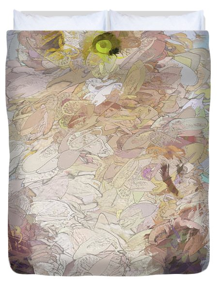 Duvet Cover featuring the digital art OWL by Jim  Hatch