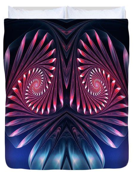 Duvet Cover featuring the digital art Owl by Jutta Maria Pusl