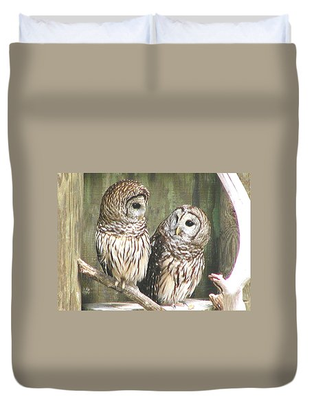 Owl Love You Forever Duvet Cover by Martha Ayotte