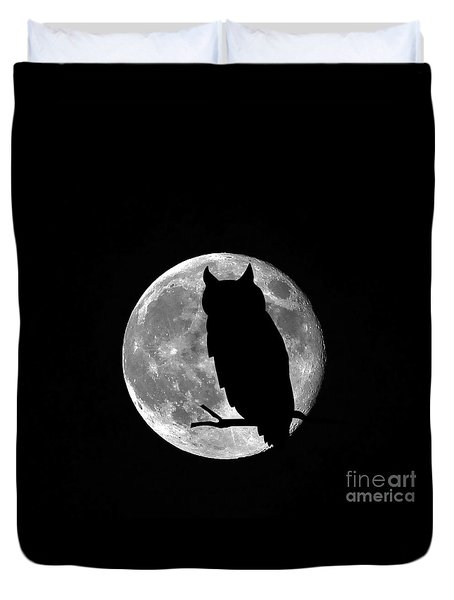 Owl Moon Duvet Cover by Al Powell Photography USA