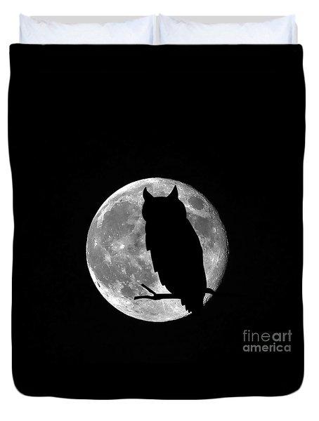Owl Moon Duvet Cover