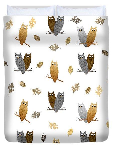Owl Pattern Duvet Cover