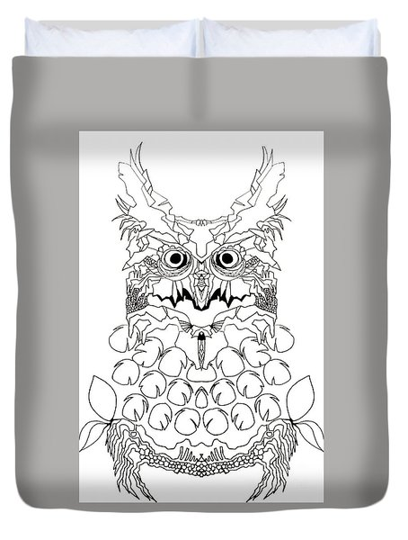 Owl Sketch 2 Duvet Cover by Amy Sorrell