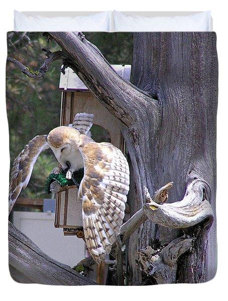 Owl Takeoff Duvet Cover