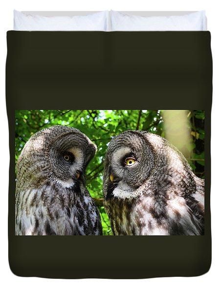 Owl Talk Duvet Cover