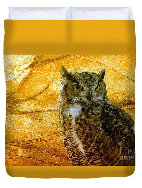 Owl Duvet Cover by Teresa Zieba