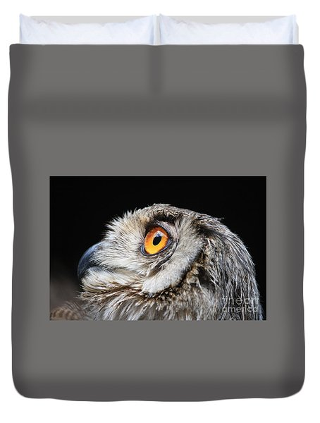 Owl The Grand-duc Duvet Cover by Mary-Lee Sanders