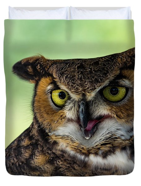 Owl Tongue Duvet Cover