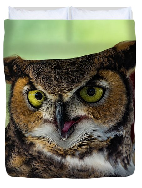 Owl Tongue Duvet Cover
