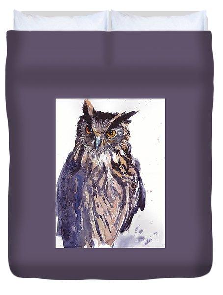 Owl Watercolor Duvet Cover