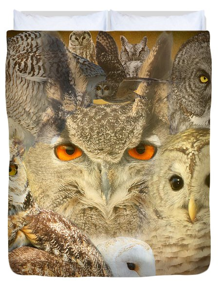 Owl You Need Is Love Duvet Cover by Heather King