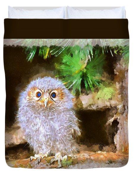 Owlet-baby Owl Duvet Cover by Maciek Froncisz
