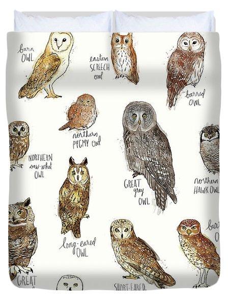 Owls Duvet Cover