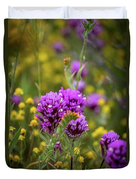 Duvet Cover featuring the photograph Owl's Clover by Peter Tellone