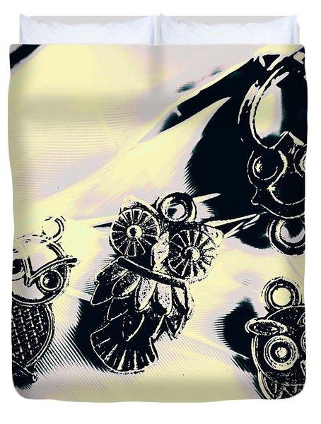 Owls From Blue Yonder Duvet Cover