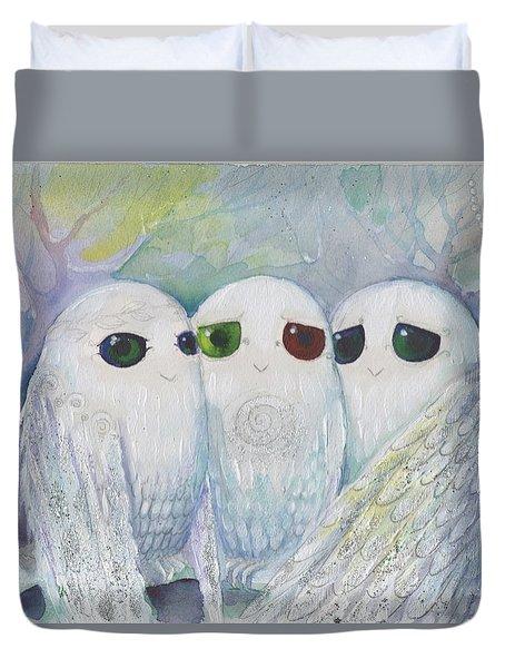 Owls From Dream Duvet Cover