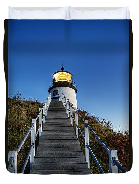 Owls Head Lighthouse Duvet Cover by John Greim