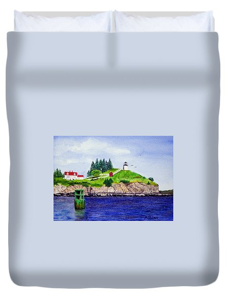 Owls Head Lighthouse Duvet Cover
