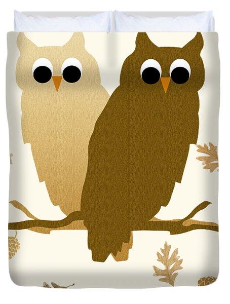 Owls Pattern Art Duvet Cover
