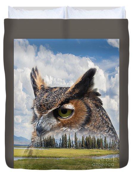 Owl's Rest Duvet Cover