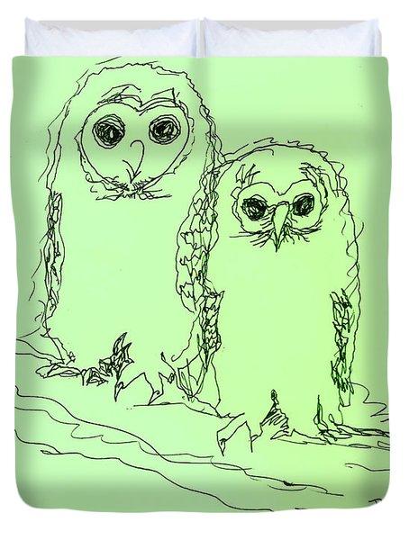 Owlz R Us Duvet Cover