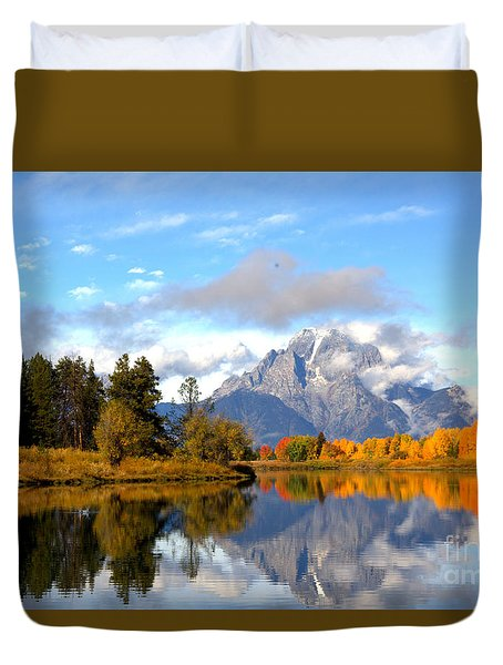 Mt Moran At Oxbow Bend Duvet Cover