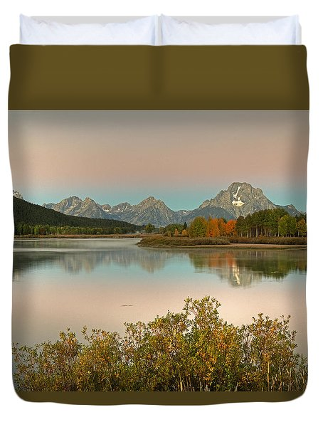 Duvet Cover featuring the photograph Oxbow Bend by Gary Lengyel