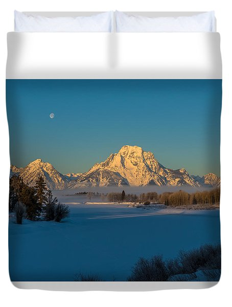 Oxbow Bend In Late Winter Duvet Cover