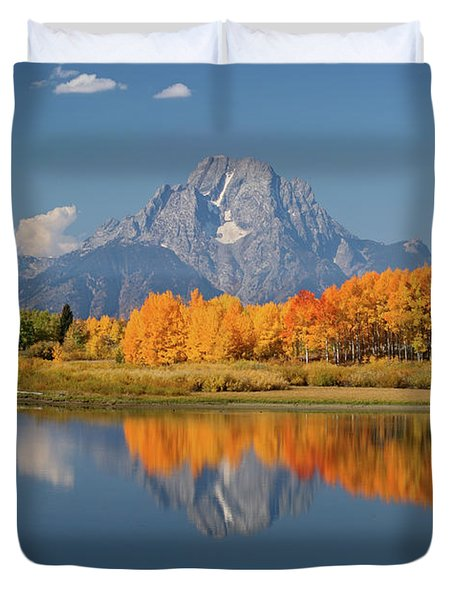 Oxbow Bend Reflection Duvet Cover