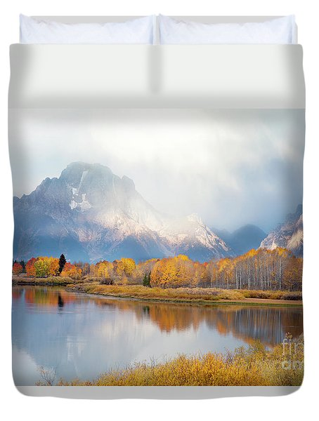 Oxbow Bend Turnout, Grand Teton National Park Duvet Cover