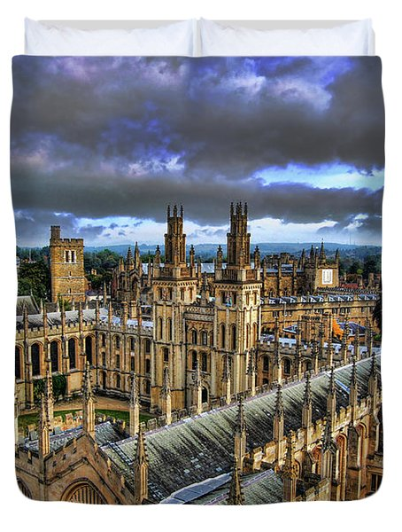 Oxford University - All Souls College Duvet Cover by Yhun Suarez